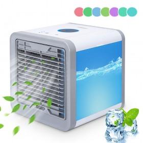 Yorbay mini Luftkühler mit LED-Nachtlicht in 7 Farben, 4 in1 USB Mobile Klimageräte mit 3 Lüftergeschwindigkeiten