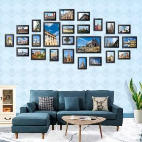 Bilderrahmen 26er Set Fotorahmen mit Bildabdeckung aus Plexiglas Foto Collage