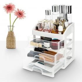 Make Up Organizer Kosmetik Aufbewahrung aus Kunststoff mit 3 Schubladen