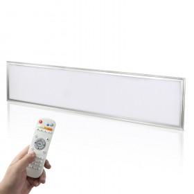 120x30cm 40W LED Panel Set Farbtemperatur einstellbar dimmbar Deckenleuchte Pendelleuchte mit Fernbedienung, Befestigungsmaterial und LED Treiber/Trafo
