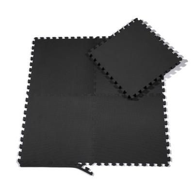 Bodenschutzmatten Set 60 x 60 cm Schwarz Trainingsmatten für Fitnessraum, Yoga,Gymnastik