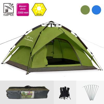 Campingzelt 2-3 Personen in grün / blau, Kuppelzelte für Camping, Wandern usw.