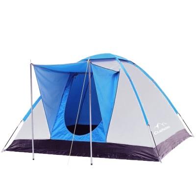 Iglu-Zelt für 3-4 Personen, Campingzelt mit Vorraum in blau für Camping, Wandern und mehr