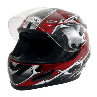 Motorradhelm rot XL