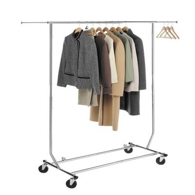 Rollbarer und Ausziehbarer Kleiderständer, Rollgarderobe