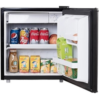 Mini Kühlschrank mit Gefrierfach Kühl-Gefrier-Kombination A+ 48L weiß / schwarz