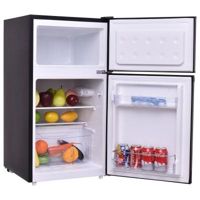 95L Kühlschrank mit Gefrierfach Standkühlschrank Gefrierschrank Kühl-Gefrier-Kombination, Energieklasse A