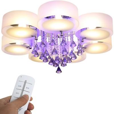 7 Fl. - LED Kristall Deckenleuchte, Modern Deckenlampe Lüster Kristall Hägeleuchte E27 Designer