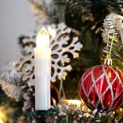 Wasserdicht LED Weihnachtskerzen kabellos Dimmbar RGB/Warmweiß mit Fernbedienung mit Timerfunktion