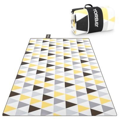Stranddecke Picknickdecken Campingdecke XXL wasserdicht mit Tragegriff 200 x 200 cm, 200 x 300 cm (Dreieck)