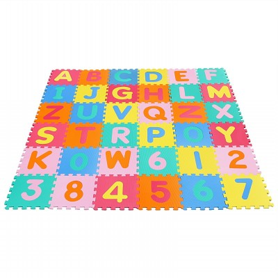 Puzzlematte 86 tlg. - Kinderspielteppich Spielmatte Spielteppich, Laufstallboden, Formamidfrei
