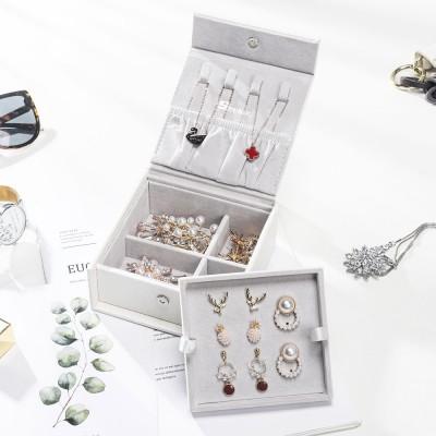 mini-Schmuckkästchen für Reise, kleine Schmuckschatulle für Ringe, Uhrringe, Halsketten usw. weiß