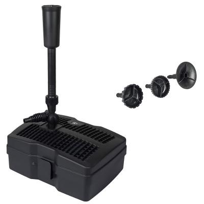 CUF-6000 4 in 1 Teichpumpe Springbrunnenpumpe mit Filter für Garten- und Springbrunnengestaltung