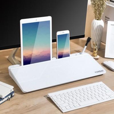 Tisch-Organizer Whiteboard Tablettenständer für Schreibtisch, Schreibtischorganizer für Büro, white