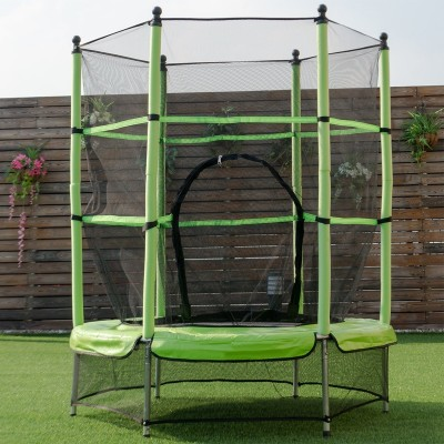 Kindertrampolin Indoortrampolin Outdoor Trampolin mit Sicherheitsnetz Ø 140 cm