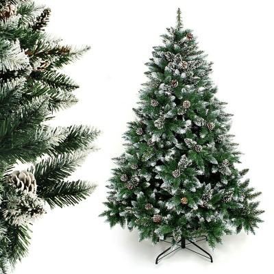 künstlich Weihnachtsbaum Tannenbaum für Weihnachten-Dekoration mit Schnee (120 cm - 240 cm)