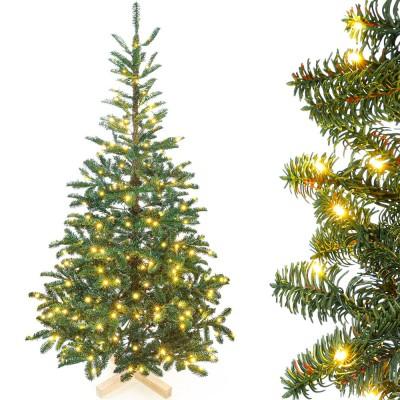 künstlicher Weihnachtsbaum Nordmanntanne mit Beleuchtung LED Tannenbaum für Weihnachten-Dekoration, 150cm / 180cm