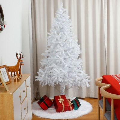 Yorbay weißer Weihnachtsbaum für Weihnachten Dekoration, Tannenbaum Christbaum künstlich günstig 120cm 150cm 180cm 210cm