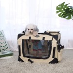 Hundebox Transportbox faltbar Oxford Gewebe S-XXXL in beige