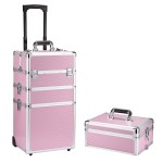 4 in 1 Kosmetikkoffer mit einzelnem Deckel, Beautycase ALU Friseurkoffer Schminkkoffer Schmuckkoffer (Farbwahl)