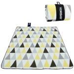 Stranddecke Picknickdecken 200 x 200 cm Campingdecke XXL wasserdicht mit Tragegriff (Dreieck)