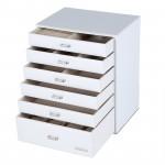 6 Schubladen Schmuckkoffer, Schmuckkasten Uhrenkoffer Kosmetikkoffer