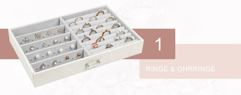 seelux schmuckkoffer b32 Ringe und Ohrringe